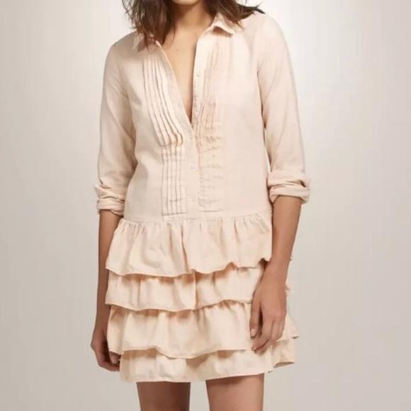 J. Crew Dresses & Skirts - SOLD❗️J. CREW Mona Shirtdress Tiered Ruffles Sz 12